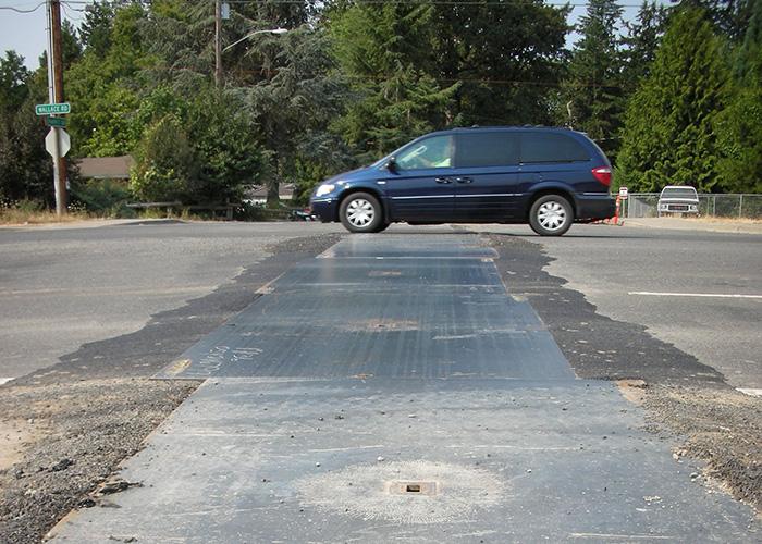 Steel Plates on Roadway